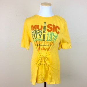 BP Yellow Music Band Corset Concert Tee